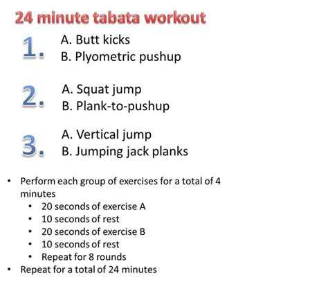 64 best tabata workouts images on workout