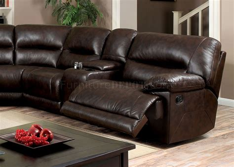 glasgow sofa glasgow motion sectional sofa cm6822br in brown leatherette