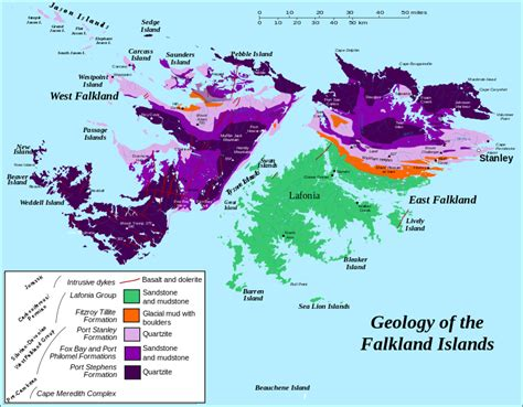 map of the falkland islands file geology of the falkland islands svg wikimedia commons