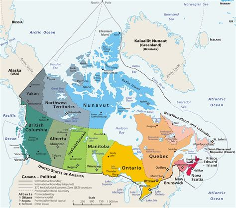 map of the canada geography of canada