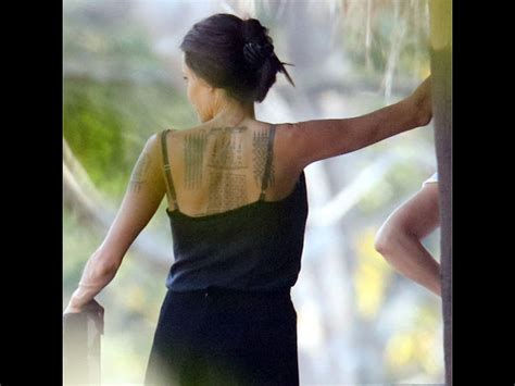 angelina jolie hand tattoo persian inked again this is what angelina jolie s new tattoos
