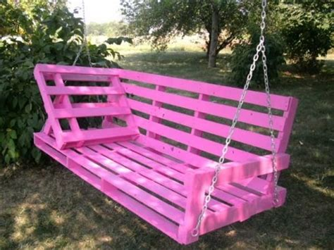 how to make a swing bench 33 pallet swings chair bed and bench seating plans