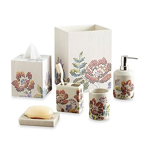 Discontinued Croscill Bathroom Accessories Croscill 174 Mosaic Floral Bathroom Accessories Bed Bath Beyond