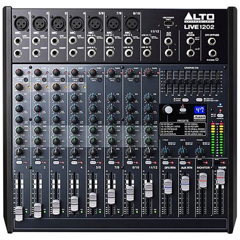 Mixer Alto Live alto live 1202 12 channel 2 mixer musician s friend
