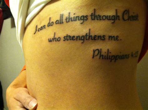 christian tattoos featured philippians 4 13 tattoos