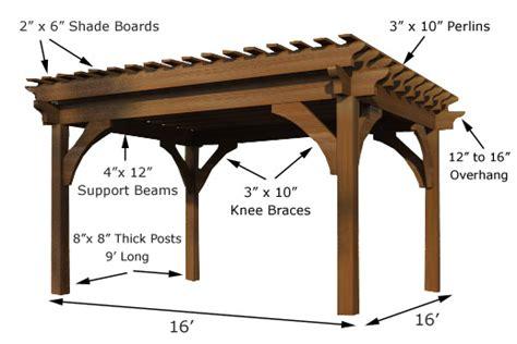 16 x 16 pergola timberkits luxury outdoor rooms pergolas pergola kits
