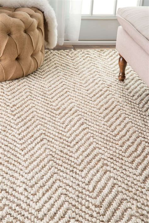 home decor rugs rugs home decor kiwawa03 handwoven jute jagged chevron