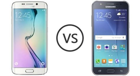 Samsung J7 Edge Plus Samsung Galaxy S6 Edge Vs Samsung Galaxy J7 Phone Comparison