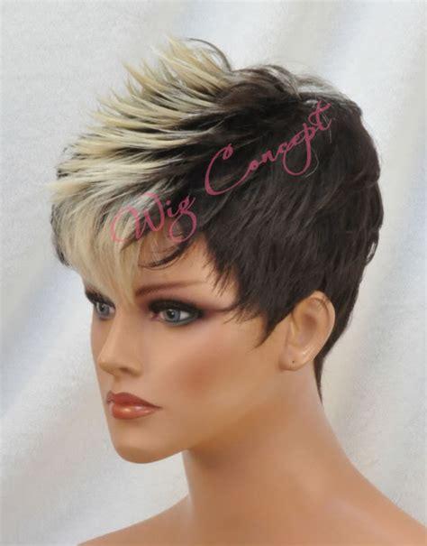 subtle mohawks women vanessa short straight mohawk full wig moby ebay