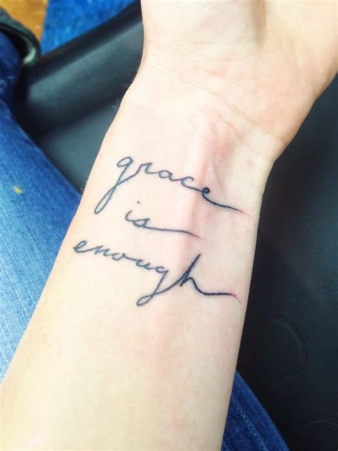 grace wrist tattoo 14 amazing enough wrist tattoos