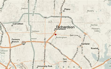 where is richardson on the map richardson location guide