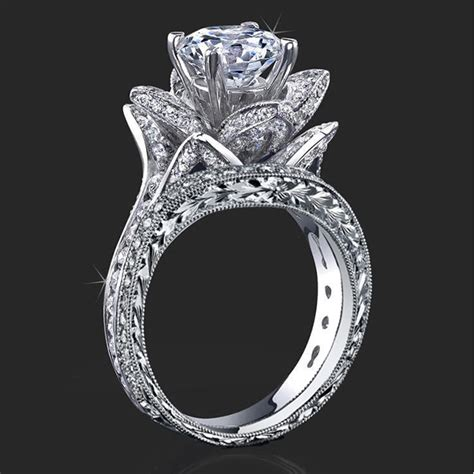 unique antique style engagement rings on behance