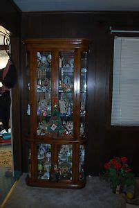 american of martinsville corner curio cabinet solid cherry