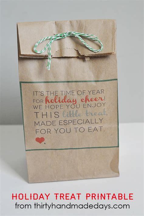 printable christmas gift bag tags christmas treats printable tags bags