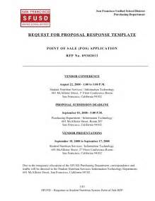 rfp for architectural services template sns pos system rfp response template