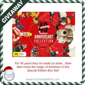 aardman 40th anniversary collection giveaway