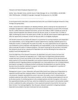 Telework Agreement Template by Telework Agreement
