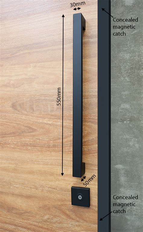 Matte Black Entry Pull Set 550 Long The Lock And Handle