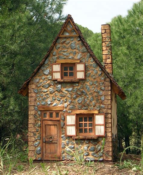 stone cottage in the woods wood and stone house exteriors miniaturas kriana la casa de la bruja n 186 6 salvaje de