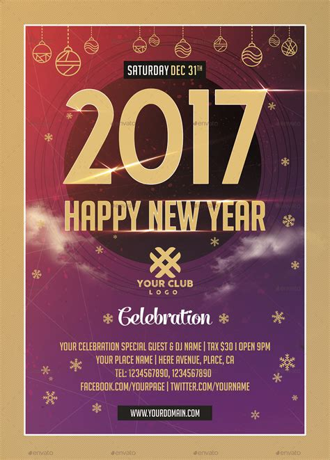 New Year Celebration Flyer Templates By Xepeec Graphicriver Flyer Celebration Template