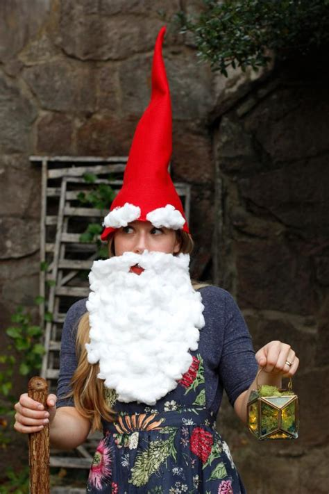 diy garden gnome halloween costume hgtv
