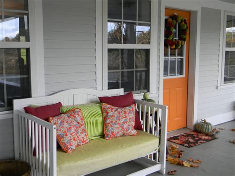 How To Convert Crib To Daybed Baby Crib Turned Front Porch Daybed