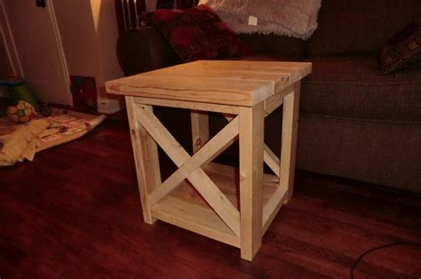 ana white smaller rustic   table diy projects