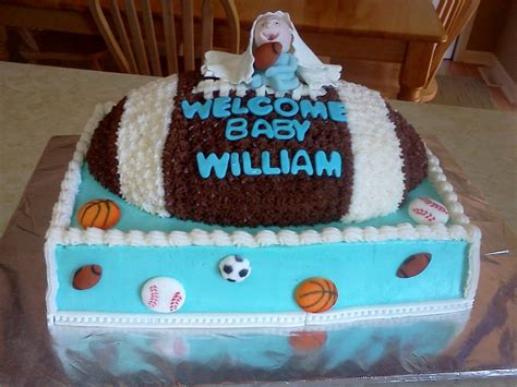 Sports Theme Baby Shower Cake by Sports Theme Baby Shower Cake Cakecentral