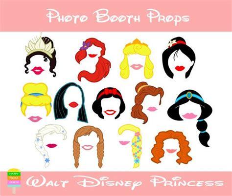 printable photo booth props disney disney princess photo booth props 26 pieces printable