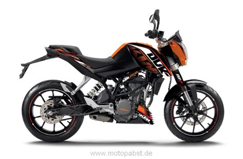 duke 125 dekor graphic kit race raceline dekor ktm