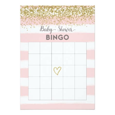 baby bingo card templates bingo invitations announcements zazzle
