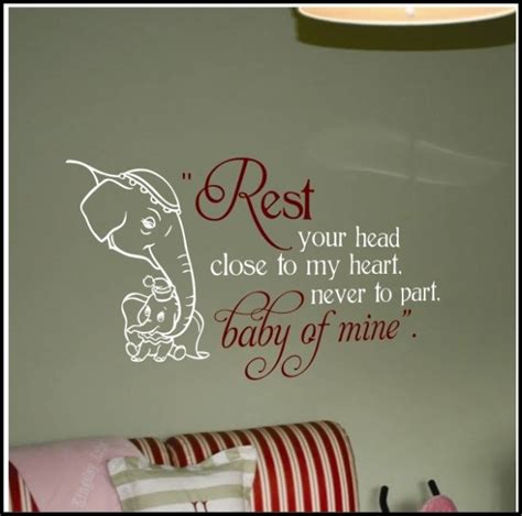 Dumbo Wall Stickers dumbo quot baby mine quot lyrics wall decal baby nurseries