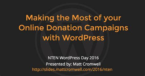 Making the most of your online donation campaigns with wordpress givewp