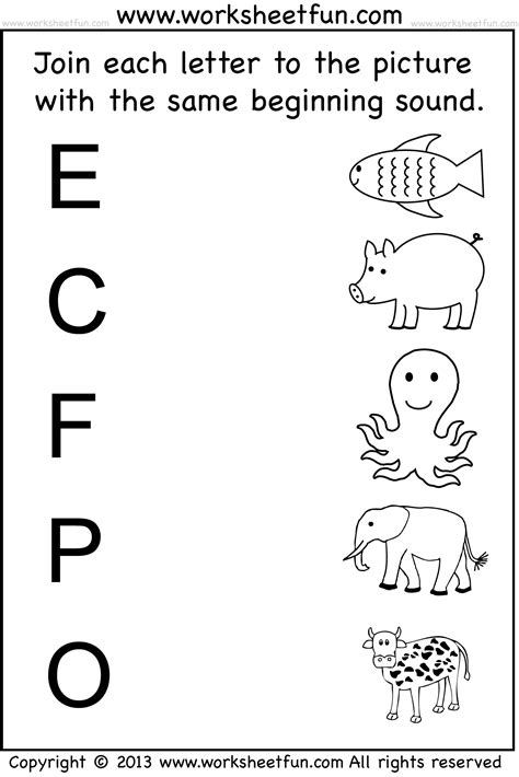 Kindergarten Free Printable Worksheets free coloring pages of matching and worksheets