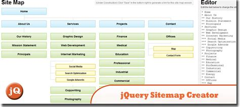 sitemap tool 5 jquery sitemap plugins and generator tools sitepoint