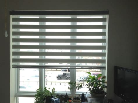 Custom L Shades Nyc by Zebra Roller Blind Window Shades Striped Custom Made