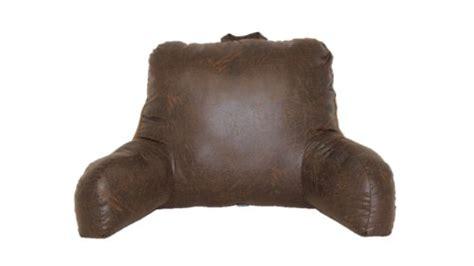 brentwood bed rest pillow nobuk faux leather backrest pillow brown pillow bedrest