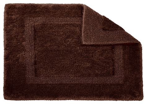 Square Bathroom Rugs Habidecor Reversible Brown Bath Rug Square Traditional Bath Mats By Flandb