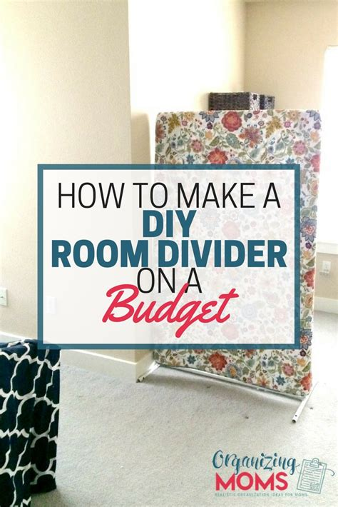 How To Make A Diy Diy Room Divider On A Budget Organizing