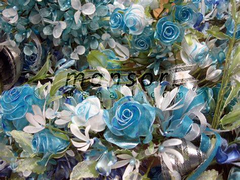 Kelopak Bunga Biru Mix Putih Id26 bunga dip koleksi bunga dip biru