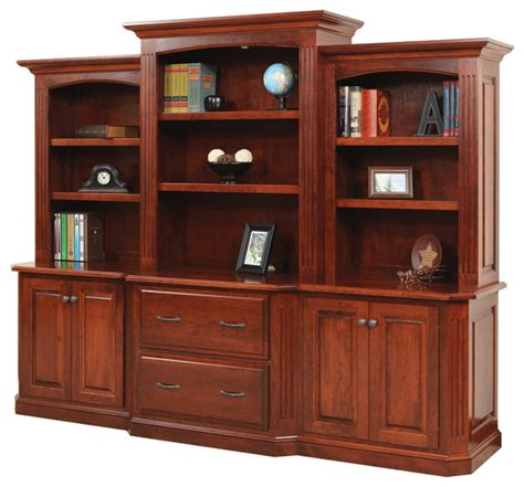 cavalier deluxe executive bookcase traditional home