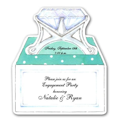 Come With Me Engagement Invites Yumsugar To Die For diecut ring in box engagement invitations paperstyle