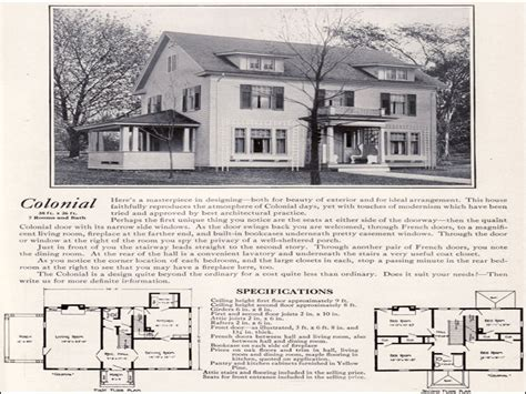 Colonial Revival House Plans by 1920 Colonial Homes 1920 Colonial Revival House Plans