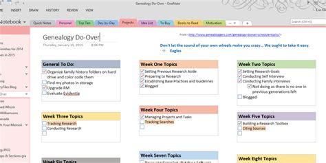 One Note Template onenote to do list template free to do list