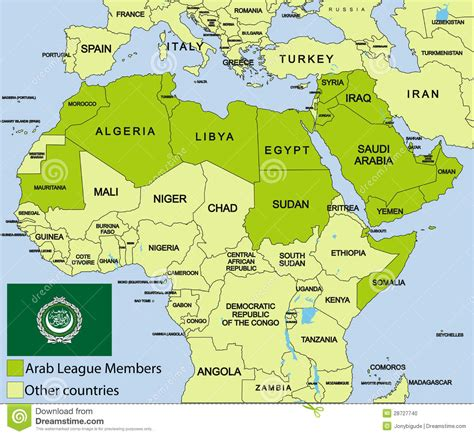 arab map countries arab league agree to joint
