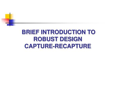 design brief powerpoint presentation ppt brief introduction to robust design capture