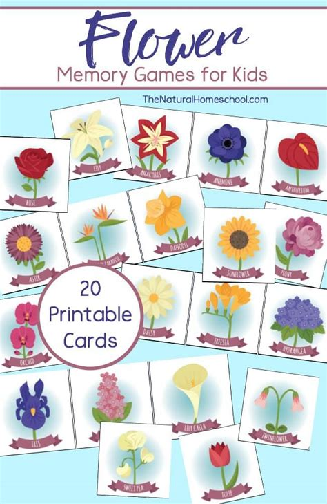 printable games about flowers free printable flower memory games for kids money saving