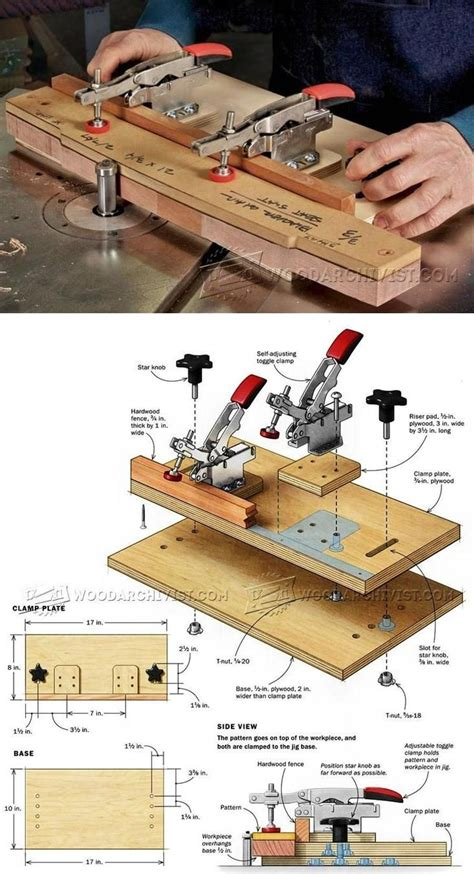 Wood Pattern Jig | pattern routing jig router tips jigs and fixtures