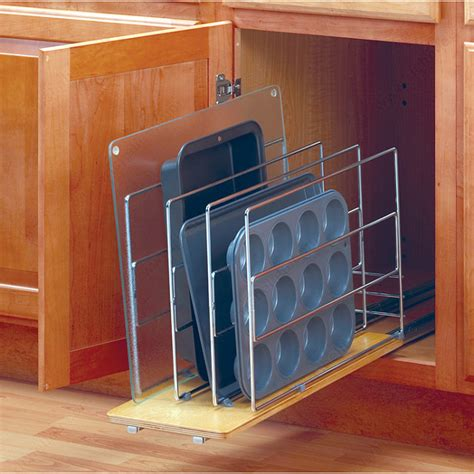 Tray Dividers For Kitchen Cabinets by Pull Out Tray Divider Wood Base Richelieu Hardware