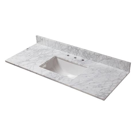 with bowl on top home decorators collection 49 in w marble vanity top in